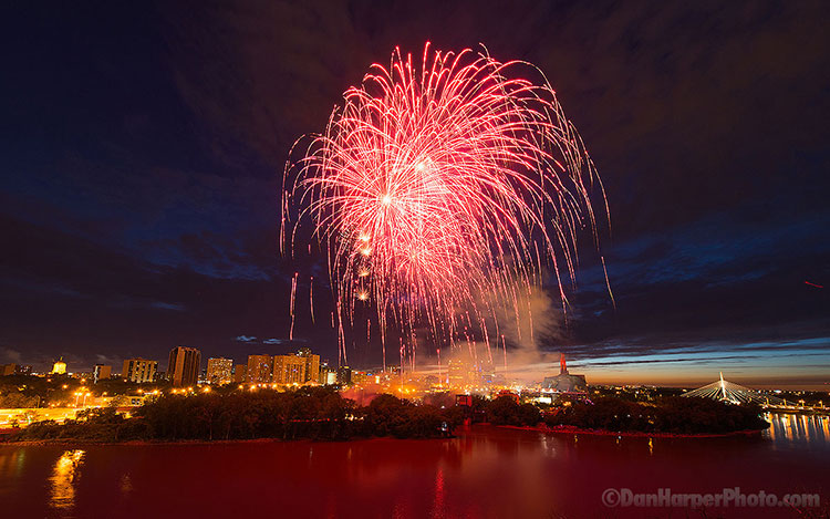 Canada Day fireworks Winnipeg 2016