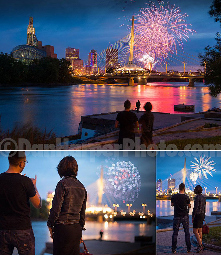 Winnipeg stock photography: Fireworks