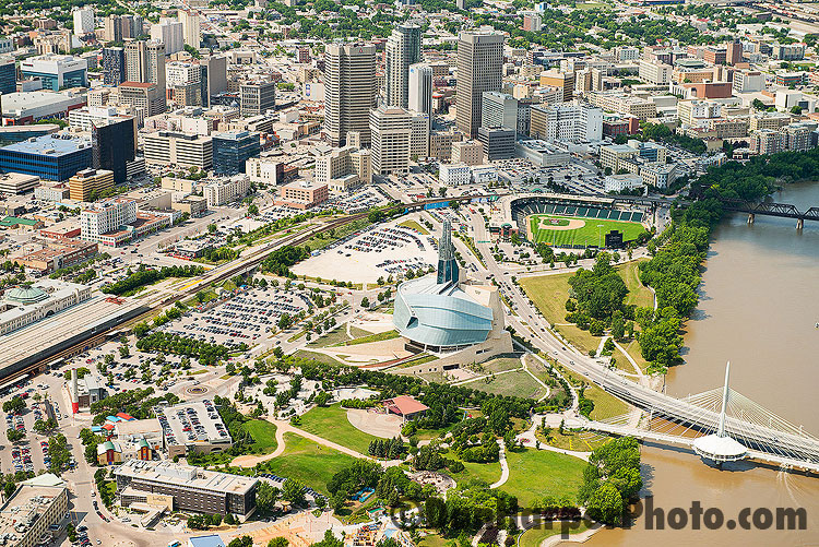 Aerial stock photography of Winnipeg