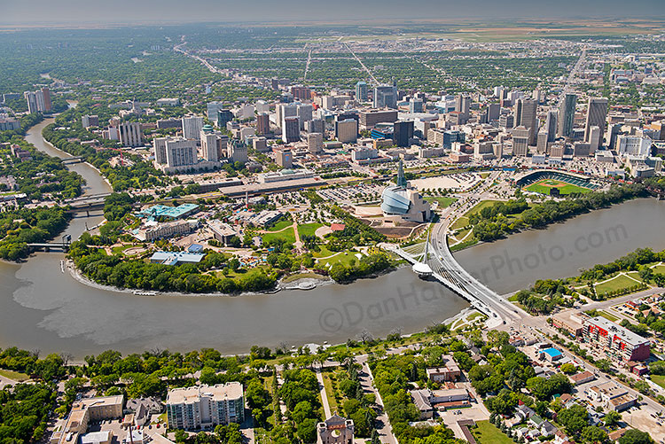 Winnipeg aerial stock photo