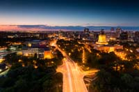 Stock photography: Osborne Village and the Manitoba Legislature